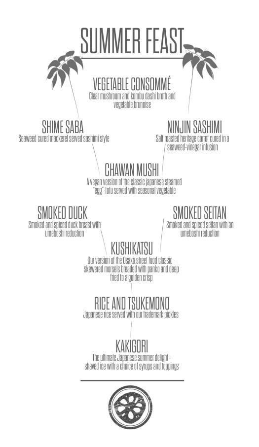 summer feast - menu