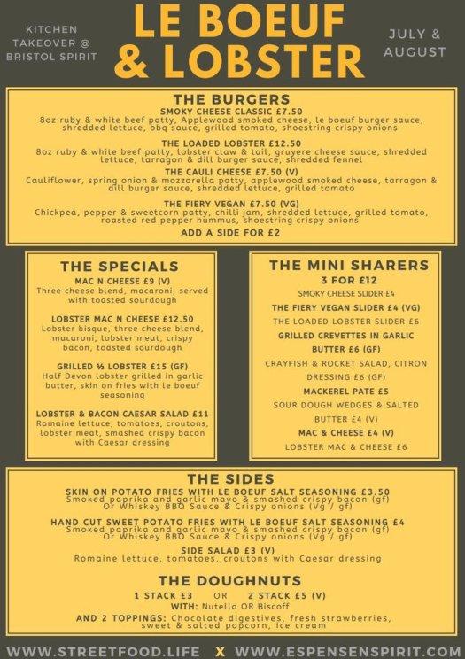 L&B menu